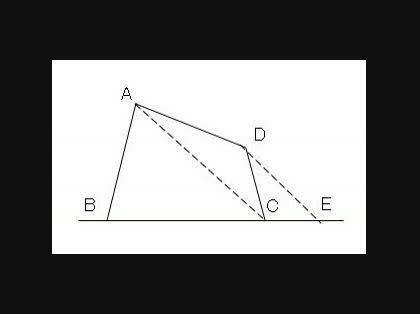 面積を2等分する直線を作図で求める問題