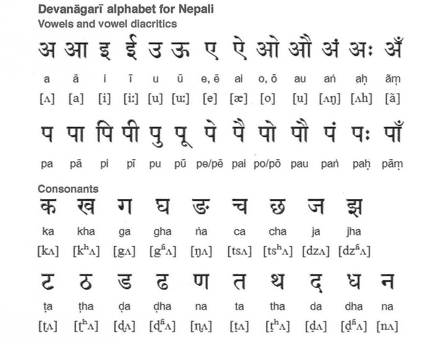 ネパール語とタイ語と英語 - そ...