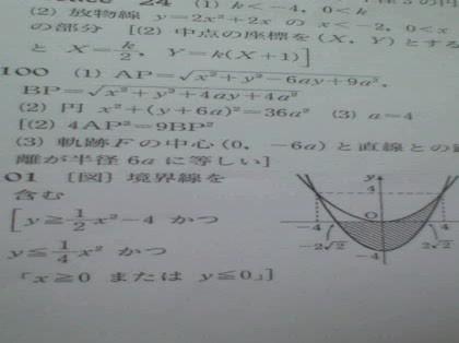 (1),x2乗+y2乗\u201516x\u20152by+16b=0  \u2026(2)について。b=□のとき、円(1)は(2)に内接し、b=□のとき、円(1)と(2)は外接する。 解答は前者が0、後者が16/5 です。