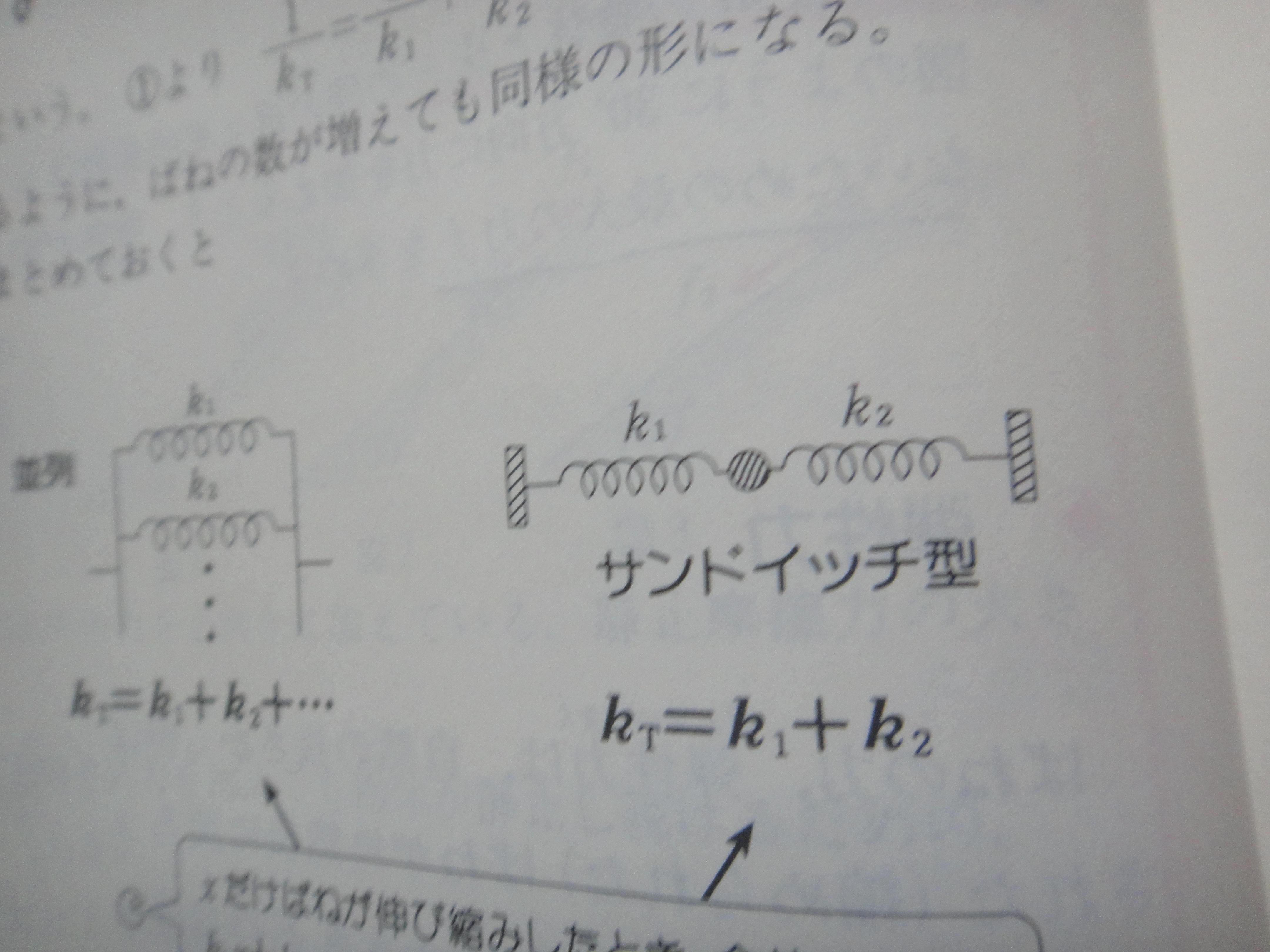 ばね 定数 合成