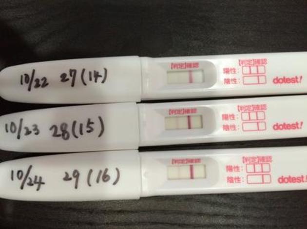 妊娠検査薬反応