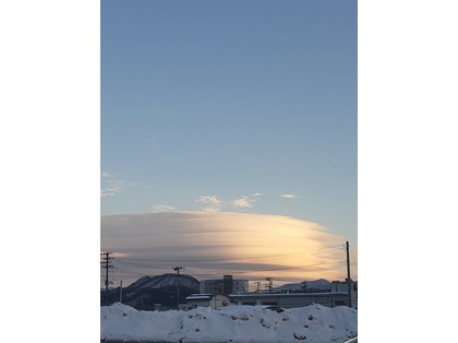 さきほど、午後4時頃に出てた雲なのですが、これは地震雲ですか?