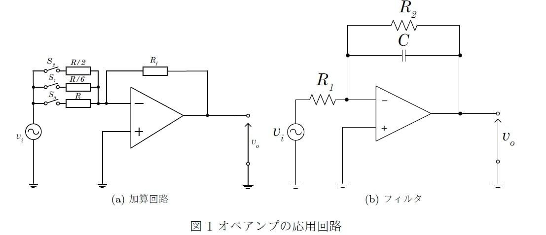 加算 回路 オペアンプ