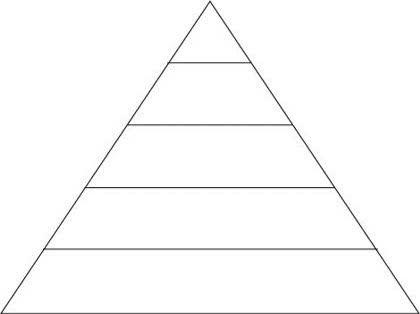 イラレでピラミッド形の色分け